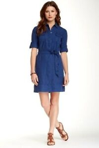 90d57b94bca Nwt Tommy Bahama TW66926 Two Palms Belted Shirt Dress Linen Ocean ...