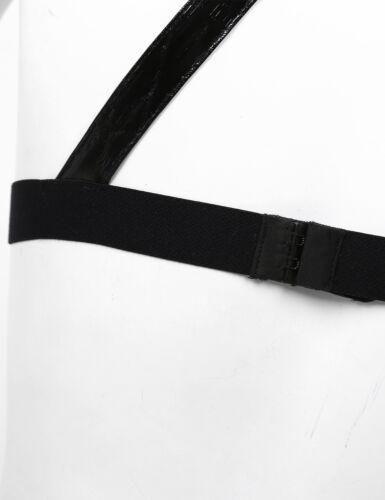 Women PU Leather Strappy Cage Bra Gothic Punk Body Belt Chest Harness Clubwear