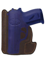 Barsony Brown Leather Gun Pocket Holster Seecamp Colt Small Mini 22 25 380