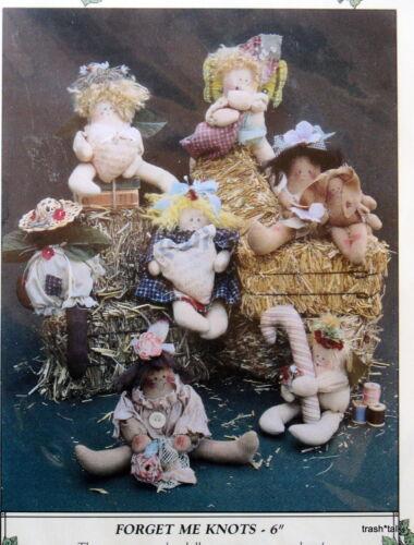 "Pattern Garden 6/"" cloth ornament doll Angel Forget me Knots shelf sitter craft"