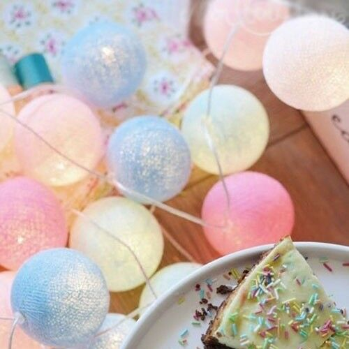 3M 20LED Colorful Cotton Ball LED String Fairy Light For Christmas Wedding Party