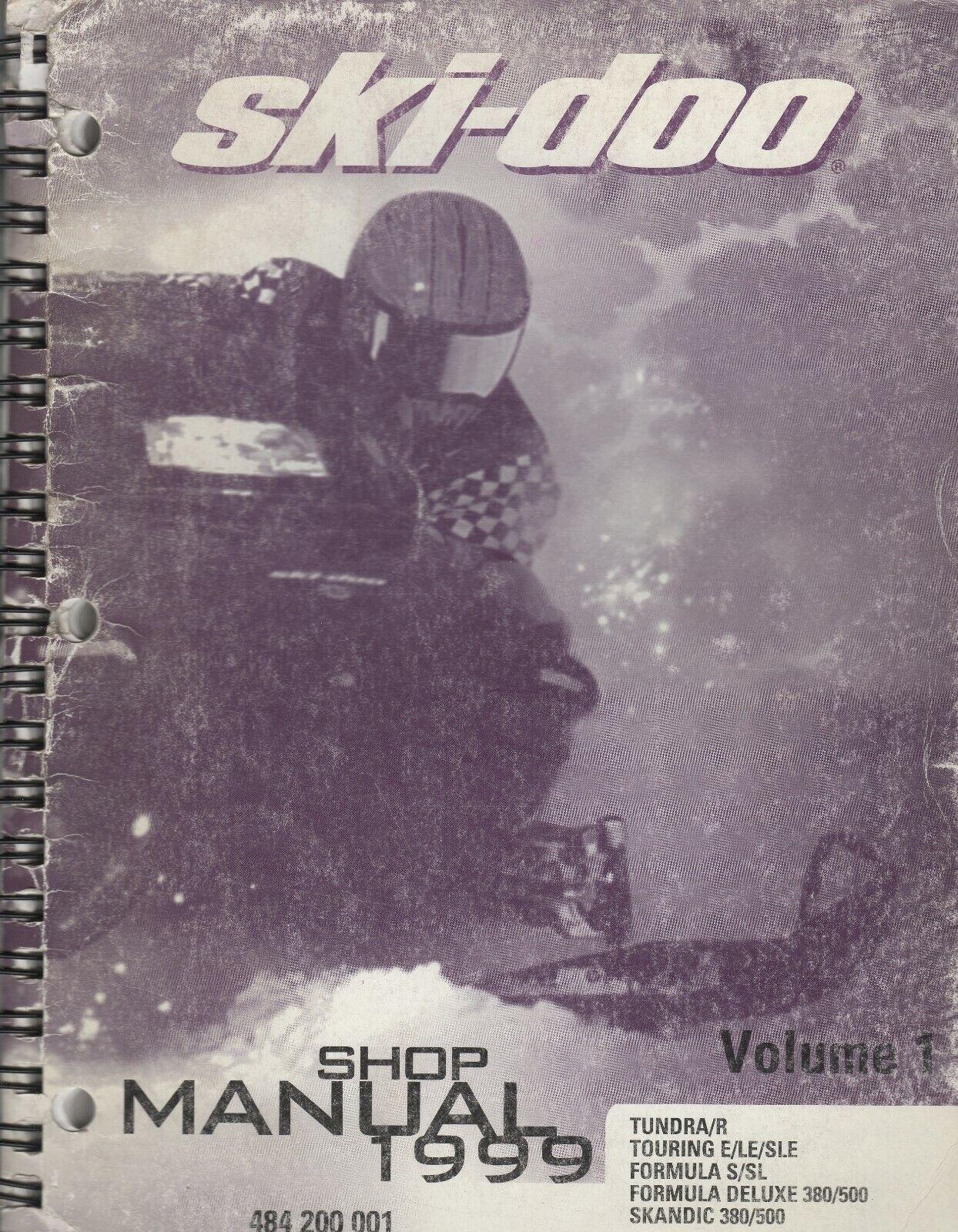 1999 SKI-DOO SNOWMOBILE SHOP MANUAL VOLUME 1 SERIES, P N 484 200 001 (660)