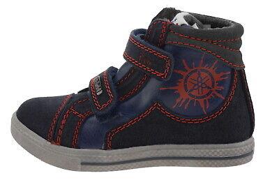 107677-26 Pio N7049v3 In Pelle High Top Sneaker Navy Eur 26- Durevole In Uso