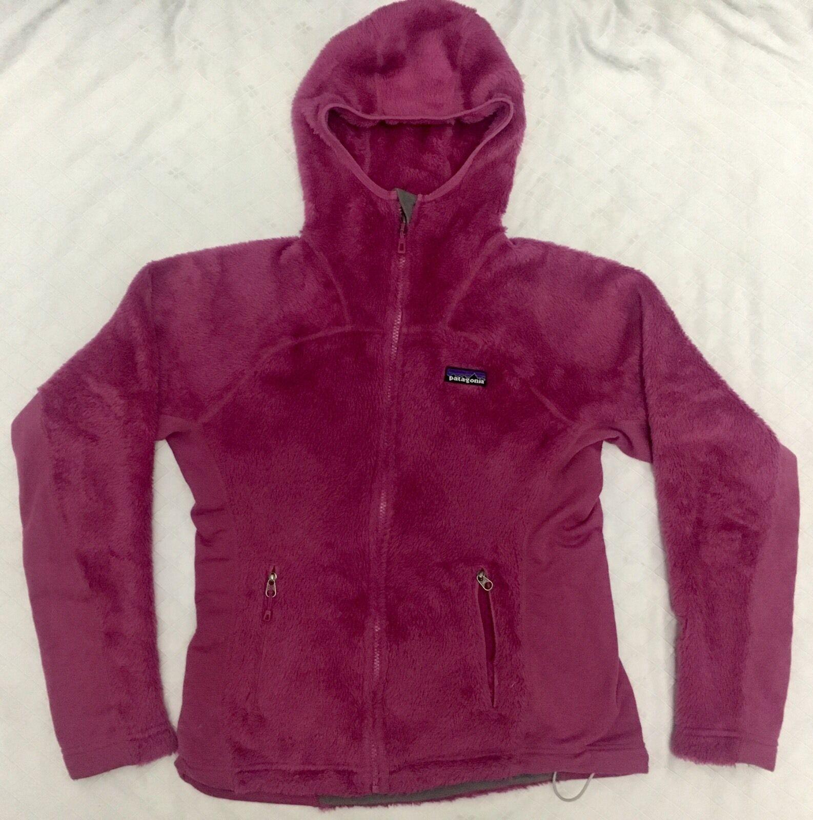 WOMENS Patagonia POLARTEC R Full Zip Zip Zip ULTRA PLUSH Fleece hoodie Size SMALL 666503