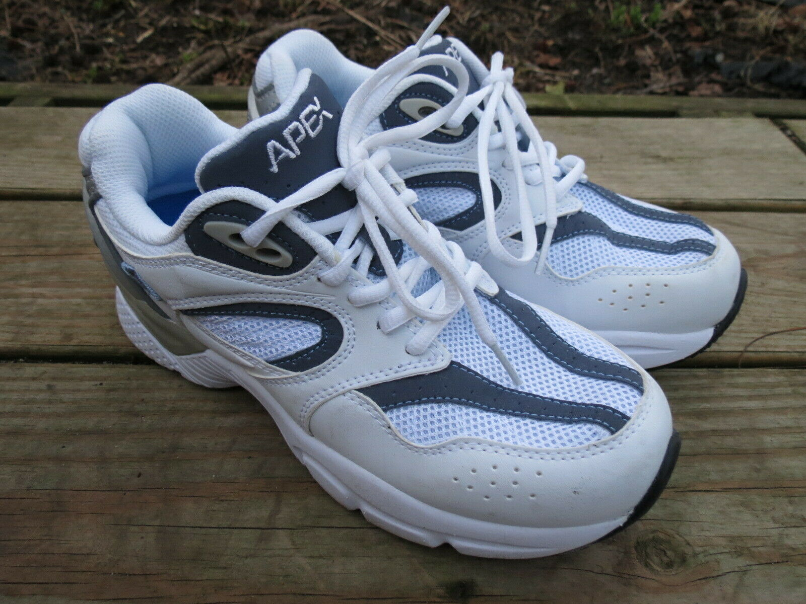 Apex White Navy Boss RN X Last Men's Running shoes Sneakers  Size 7.5 W