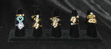 Lot of Vintage to Now Rhinestone Costume Jewelry Rings. (16)