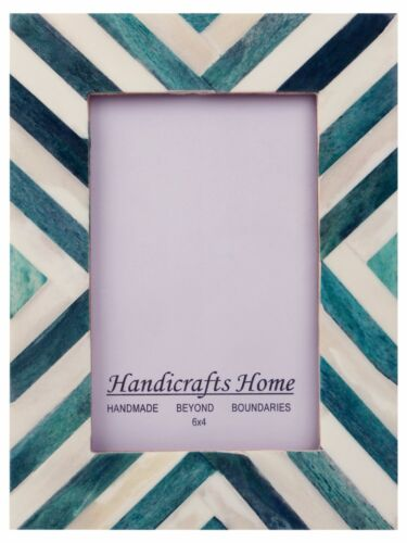 Picture Frames Photo Frame Chevron Herringbone Vintage Wooden Handmade Bone 4X6