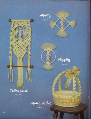 Macrame Easter Basket Pattern - Craft Book: #GS15 Simply Elegant Home Decor
