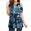 Women-Floral-Cold-Shoulder-T-Shirt-Casual-Loose-Tops-Summer-Blouse-Tee-Plus-Size thumbnail 17