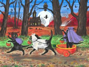 1.5x2 DOLLHOUSE MINIATURE PRINT OF PAINTING RYTA 1:12 SCALE HALLOWEEN DOLL WITCH