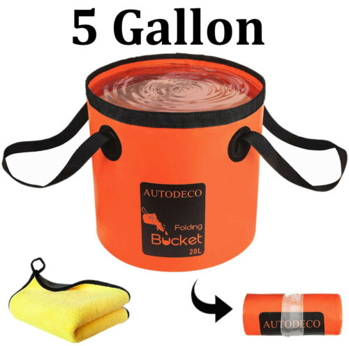 Waterproof 20L Collapsible Folding Water Bucket Outdoor Camping Fishing Portable