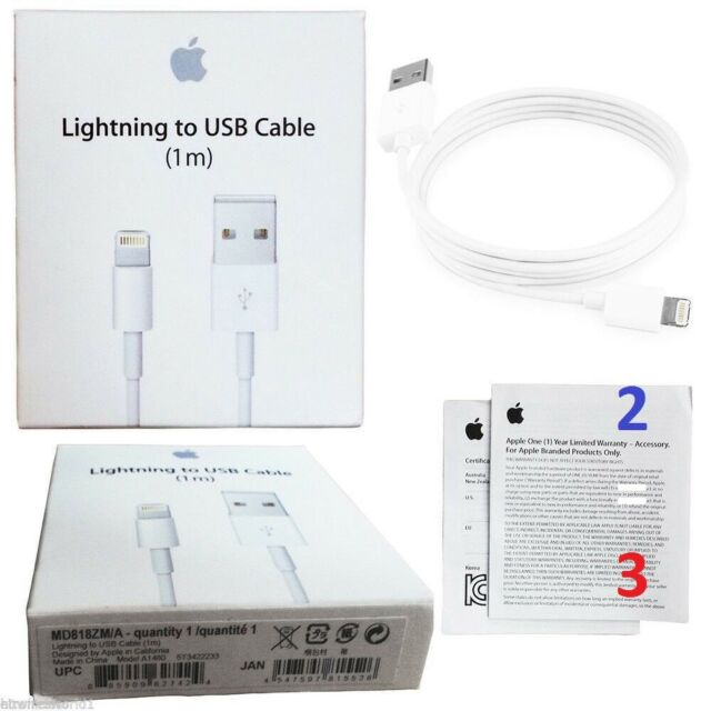 CHARGEUR ORIGINAL LIGHTNING APPLE CABLE USB IPHONE IPAD AIRPODS