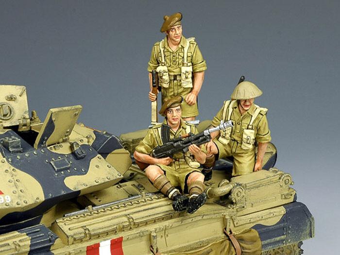 King & Land Britisch Eighth Armee EA030 Tank Reiter Reiter Reiter MIB 4cfb1a