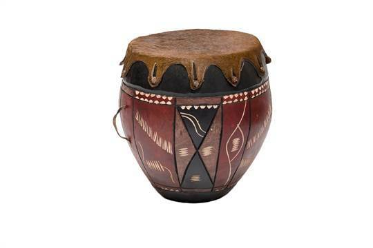 Hand Carved Decorative Drums from South Africa Tribal Anthropology Zulu
