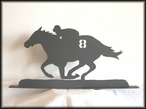 Image Is Loading RACE HORSE RACING Western Metal Art Silhouettes