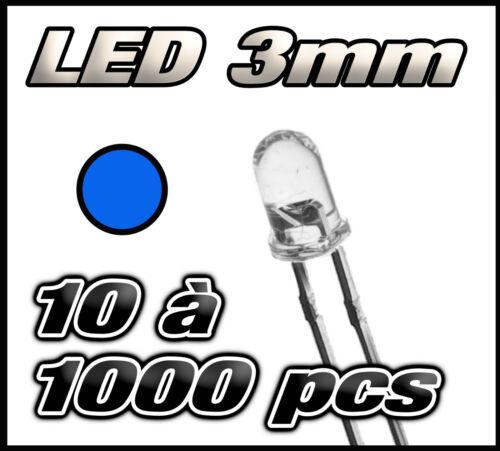 E223 Livraison gratuite LED bleu 3mm de 10 à 1000pcs  blue LED