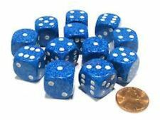 Chessex Dice: Speckled Water - Six Sided Die d6 16mm Set (12) CHX 25706