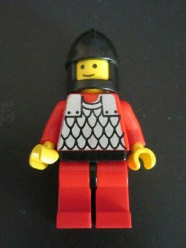 Lego cas161 Minifig Figur Kettenhemd rot