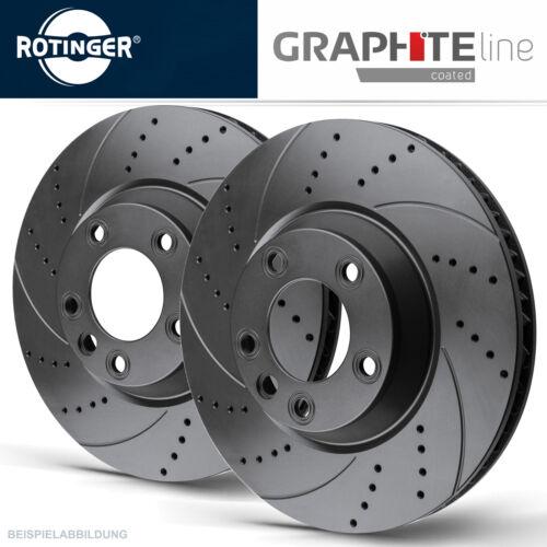 ROTINGER GRAPHITE SPORT-BREMSSCHEIBEN-SATZ HINTEN HA 4F0615601E AUDI A6