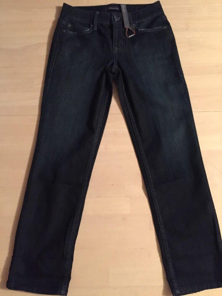 Level 99 Anthropologie Women's Jeans Crop Dark bluee Stretch Size 26 NWT