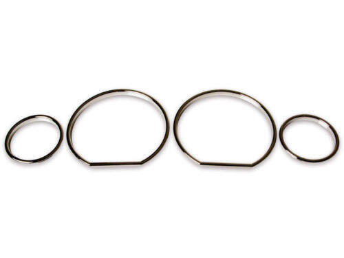 * For BMW E36 Z3 M3 Cluster Dashboard Dial Gauge Rings CHROME