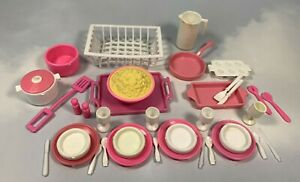 Barbie-Doll-Dream-House-Kitchen-Dishes-other-Food-Accessories