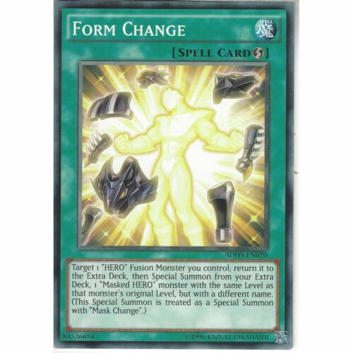SDHS-EN020 Form ChangeUnlimitedCommon CardYuGiOh TCG Hero/'s Strike