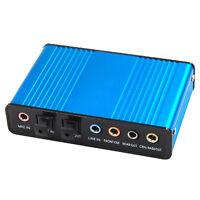 External Sound Card USB 6 Channel 5.1 Audio S/Pdif PC Netbook Laptop UKS/PDIF