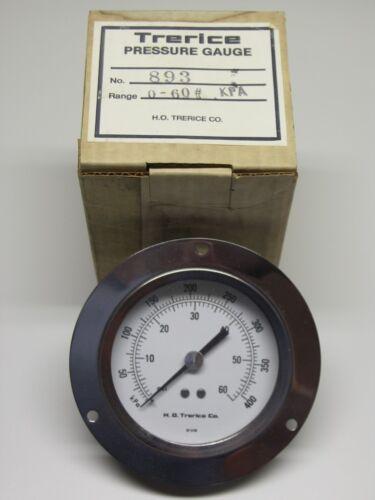 "Trerice 3.5/"" S//S Flush Mount Pressure Gauge 0-60psi//0-400 kpa D690 Series"