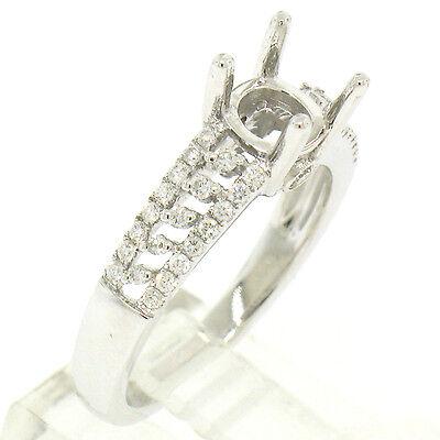Fine Jewelry Sets Fine Jewelry Brilliant Nuevo 14k Oro Blanco .50ctw Diamante Abierto Trabajo Anillo De Compromiso Semi Regular Tea Drinking Improves Your Health