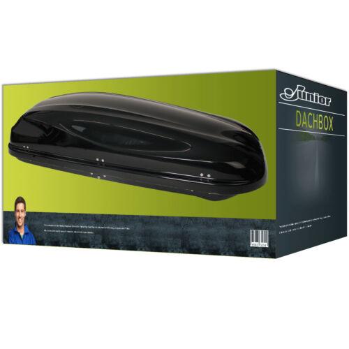 NEU Gepäckbox Dachbox glänzend Junior Altro 460 in schwarz