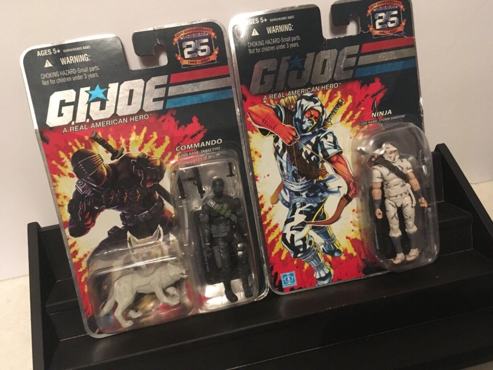 G.I. Joe Joe Joe 25th Anniversary Commando Lot. Snake Eyes Storm Shadow cards 4cc763