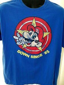 Nintendo-Super-Mario-Brothers-Rare-Distressed-Graphic-T-Shirt-XL-Vintage