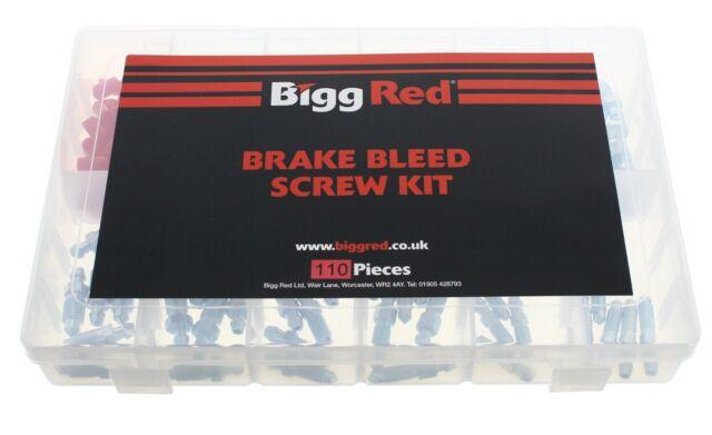 Bigg Red Purgeur Assortiment Vis 110 Pièces Métrique UNF Plus Bouchon BRBKIT110