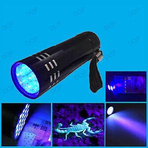 DEL UV torche Ultra Violet Lumière Noire Détecter Corps Fluides Urine Sang Sperme- salive-afficher le titre d`origine 8ikI0vRb-07200602-104723404