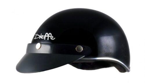 Casco a scodella padella scodellino uso ciclo no moto scooter L-XL Nero