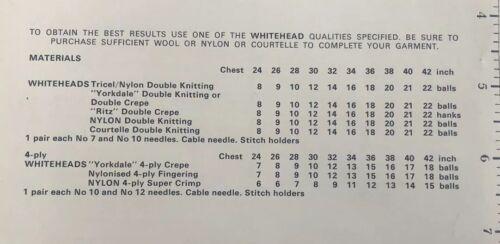 """Cable de familia Vintage Suéter DK//4-Ply Tejer patrón copia-Talla 42/"""" 24/"""""""