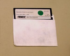 Space-Subtraction-Disk-by-MECC-for-Apple-II-Plus-IIe-IIc-IIGS