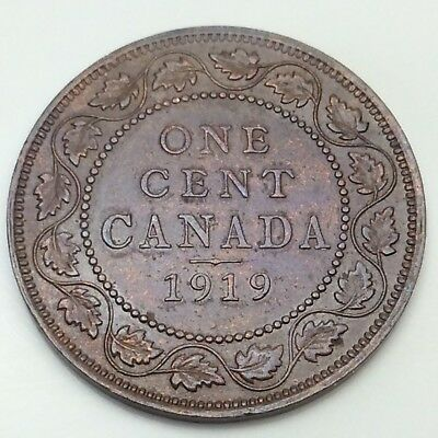 1919 Canada Copper 1 One Large Cent Penny Circulated Canadian Coin D354 Ebay