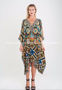 Kaftan-Embellished-Kimono-Sleeves-Cruise-Wear-Luxe-Premium-Designer-Silk-SLP1021