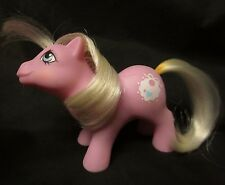 "MY LITTLE PONY G1 Baby Tiddlywinks Bib Pink Playset Pony Free US Ship 2.5"" '85"