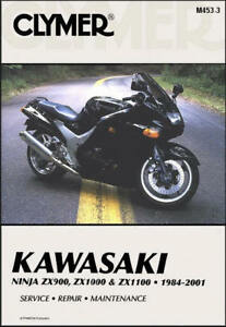 kawasaki ninja zx 900 1000 1100 zx9 zx10 zx11 clymer repair manual rh ebay com 1994 Kawasaki Ninja 900 Kawasaki Ninja 250R