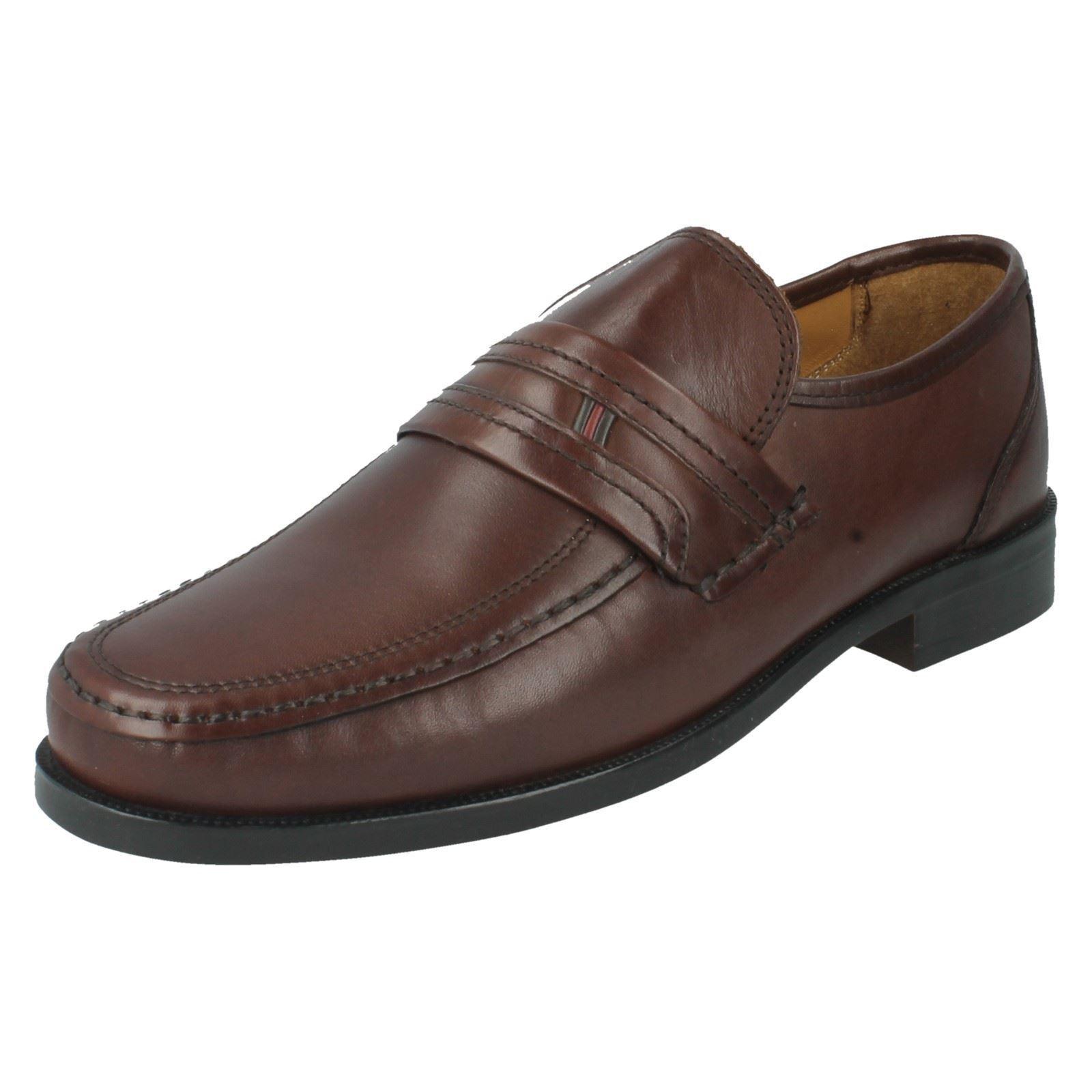 SALE  BEZEL Herren CLARKS BEZEL  EDGE WIDE LEATHER SMART SLIP ON LOAFER Schuhe 252450