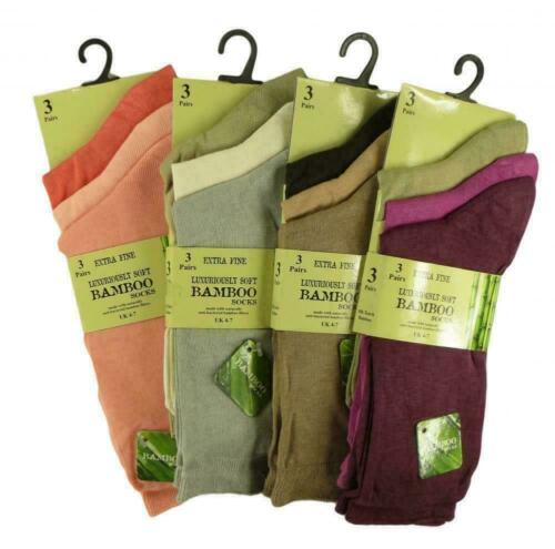 Assortiment Couleurs Multiple Femmes Luxe Bambou Super Doux Extra Fine Socks