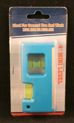"""Ideal For General Use And Work Blue 4/"""" Mini Pocket Level"""