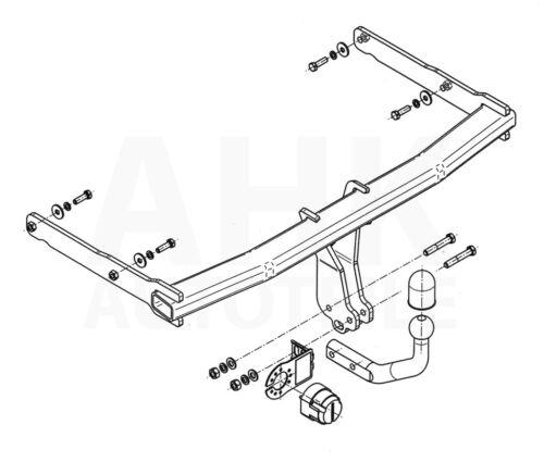 Für Audi A6 C7 4-Tür Stufenheck Anhängerkupplung starr+ESatz 13pol ABE