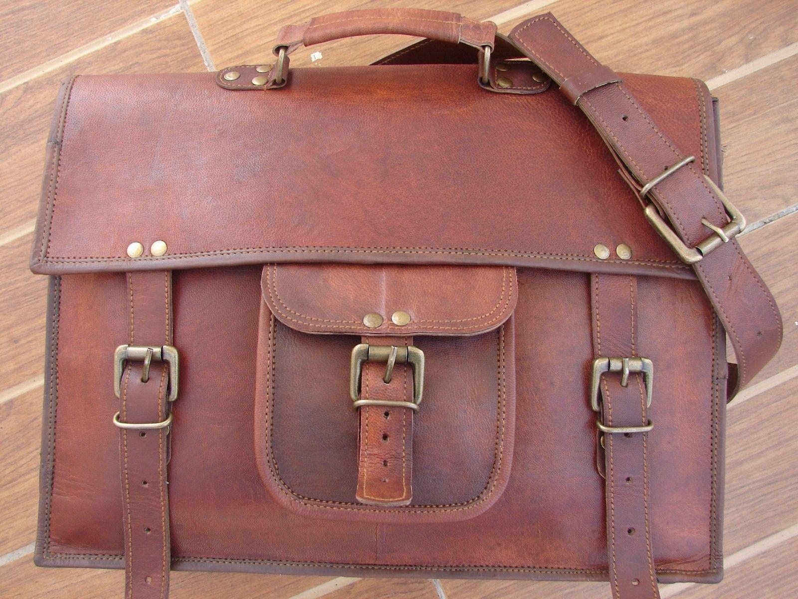Große handgemachte handgemachte handgemachte Tasche Männer Vintage Messenger Bag Schulter Echtes Leder | Deutschland Store  045f91