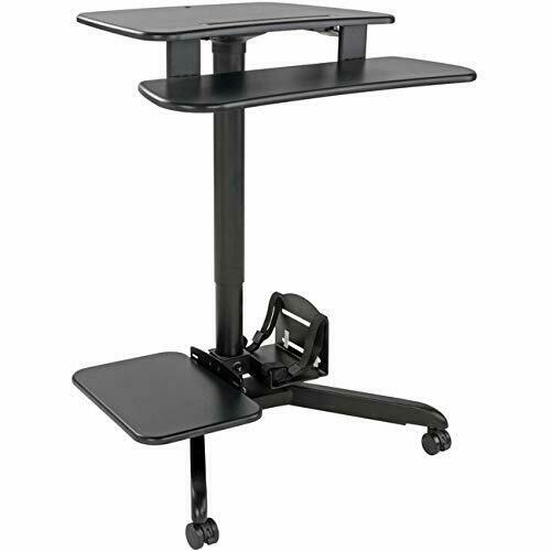 Adaptable Tripp Lite Wwssrdstc Mobile Workstation Standing Mnt Desk Rolling Cart