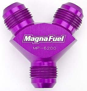 8AN Y-Fitting MagnaFuel MP-6208-10AN Male and