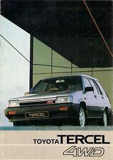 Toyota Tercel 4WD Estate 1983 UK Market Sales Brochure